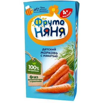 Фруто Няня детский сок, морковь с мякотью, с 4 месяцев, 200мл (00275)