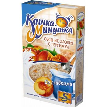 Кашка Минутка каша овсяная с персиком, со сливочным вкусом, 5 пакетов, 215гр (73363)