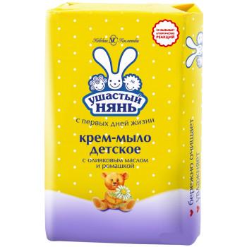 Ушастый нянь детское крем-мыло, оливковое масло и ромашка, 90гр (01972)