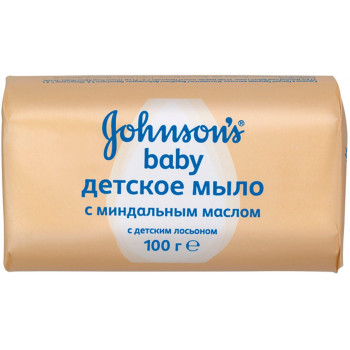 Johnsons baby детское мыло, миндальное масло, 100гр (46318)