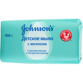 Johnsons baby мыло детское, с Молоком, 100гр (46455)