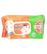 Compact салфетки влажные для детей, с Ромашкой, 100шт (32543)