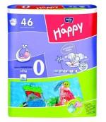 Happy new born #0 подгузники, для новорожденных, до 2 кг, 46шт (00716)