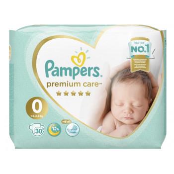 Pampers Premium Care new born подгузники #0, 2.5 кг, 30шт (36857)
