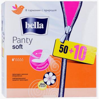 Bella Soft Deo fresh ежедневные прокладки, 1 капля, 60шт (11162)