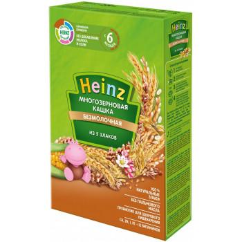 Heinz каша многозерновая из 5 злаков, без молока, с 6 месяцев, 200гр (01640)