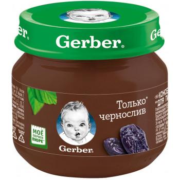 Gerber пюре, чернослив, с 4 месяцев, 80гр (78013)