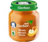 Gerber пюре фруктовое яблоко, абрикос, банан, с 6 месяцев, 125гр (72387)