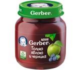 Gerber пюре фруктовое только яблоко и черника, с 5 месяцев, 125гр (71021)