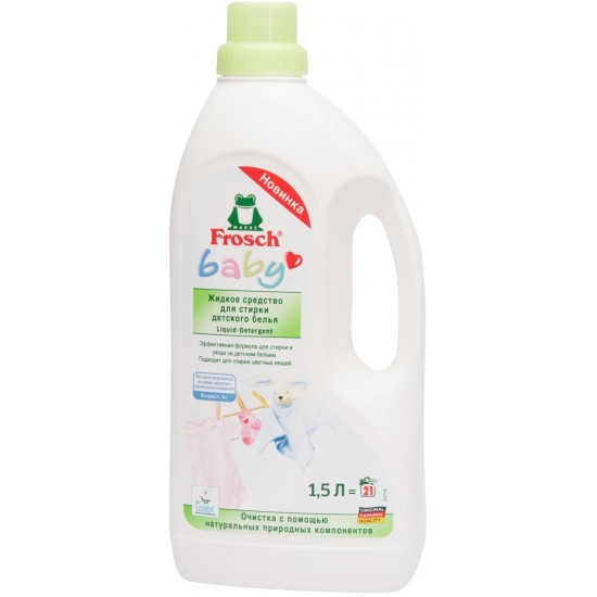 Frosch baby жидкое средство для стирки детского белья, 1,5л (24087)