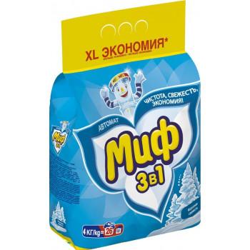 Миф стиральный порошок автомат, Морозная свежесть, для белого белья, 4кг (52827)