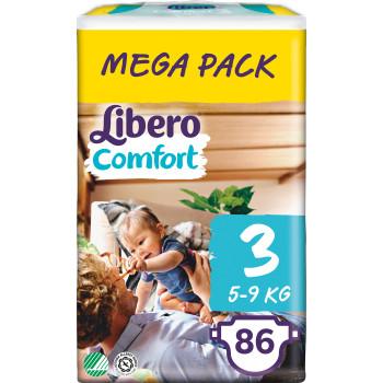 Libero comfort подгузники #3, 5-9 кг, 86шт (83117)
