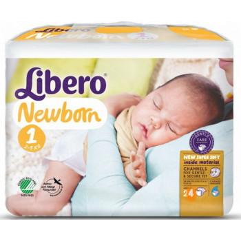 Libero new born #1 подгузники, 2-5 кг, 28шт (97736)
