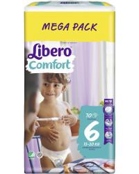 Libero comfort #6 подгузники, 13-20 кг, 70шт (83414)