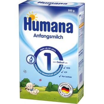 Humana сухая молочная смесь #1, с рождения, 300гр (61477)
