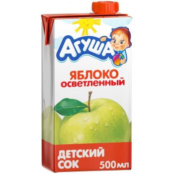 Агуша сок, яблоко осветленный, от 3 лет, 500мл (02947)