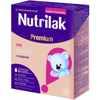 Nutrilak ПРЕ сухая смесь для недоношенных и маловесных детей, с рождения, 350гр (18325)