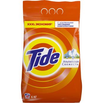 Tide стиральный порошок автомат, Альпийская свежесть, для белого белья, 6кг (37997)