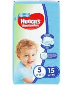 Huggies ultra comfort #5 подгузники 12-22 кг, для мальчиков, 15шт (43574)