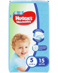 Huggies ultra comfort подгузники для мальчиков #5 12-22 кг, 15шт (43574)