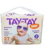 Tay-Tay Baby подгузники #2, 3-6 кг, 27шт(90159)