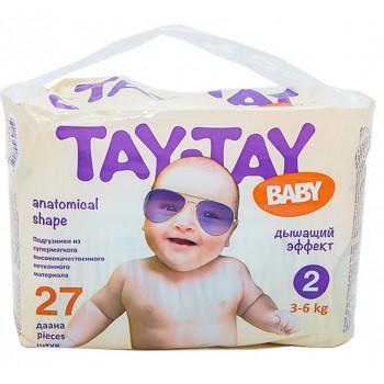 Tay-Tay Baby подгузники #2, 3-6кг, 27шт (90159)