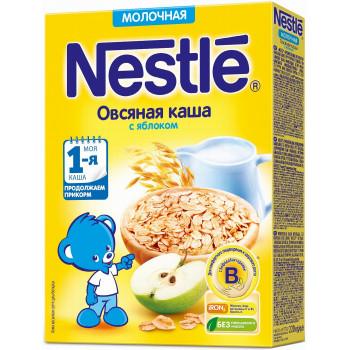 Nestle овсяная каша с яблоком, с молоком, с 5 месяцев, 220гр (31160)