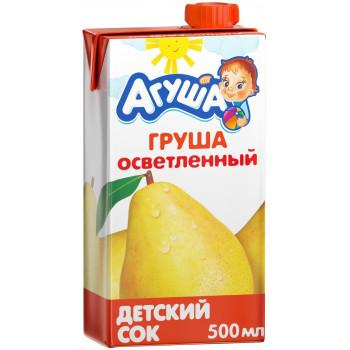 Агуша сок, груша осветленный, от 3 лет, 500мл (25105)