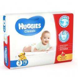 Huggies classic #3 подгузники, 4-9 кг, 78шт (43116)