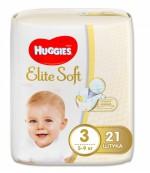 Huggies Elite Soft #3 подгузники, 5-9 кг, 21шт (45271)