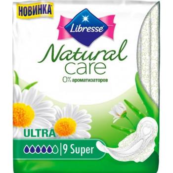Libresse natural care super гигиенические прокладки, 5 капель, 9шт (23744)