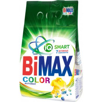 BiMax Color стиральный порошок автомат, для цветного белья, 3кг (12268)