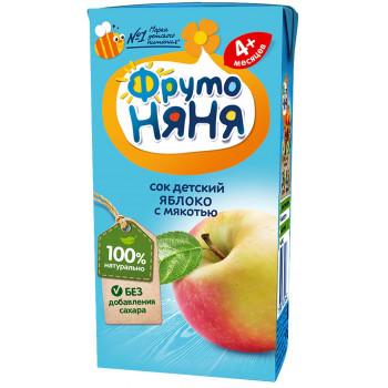 Фруто Няня детский сок, яблоко с мякотью, с 4 месяцев, 200мл (00183)
