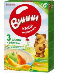 Винни каша 3 злака с фруктами, с молоком, с 6 месяцев, 200гр (04862)