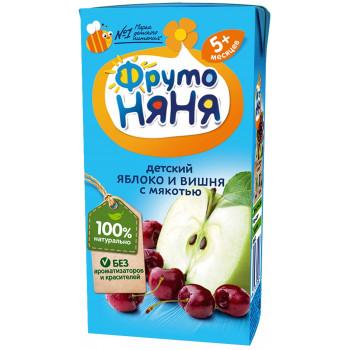 Фруто Няня детский сок, яблоко и вишня с мякотью, с 5 месяцев, 200мл (00282)