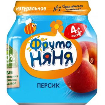 Фруто Няня пюре, персик, с 4 месяцев, 100гр  (04372)