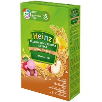 Heinz Пшенично-овсяная каша, с фруктами, без молока, с 6 месяцев, 200гр (01633)