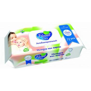 Flovell Vitamin E влажные салфетки для детей, 72шт (90167)