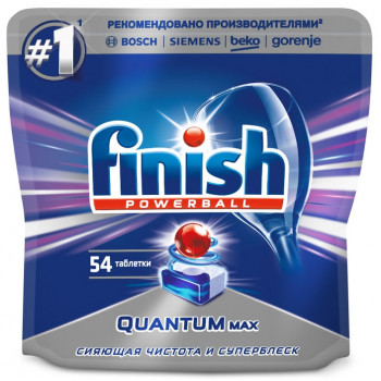Finish Powerball таблетки для посудомоечных машин, Quantum Max, 54шт (90335)