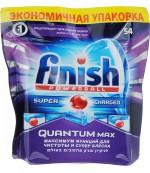 Finish Quantum Max Powerball таблетки для посудомоечных машин, Лимон, 54шт (90342)
