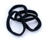 Резинки для волос, черные, 5шт (98111)