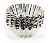 Формы для выпечки кексов, металлические, 5,5см 10шт (97961)