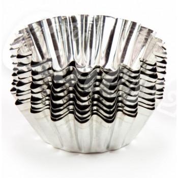 Формы для выпечки кексов, металлические, 7,5 см, 10шт (97978)