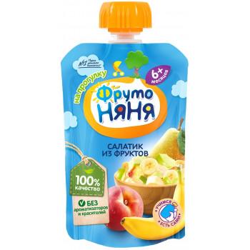 Фруто Няня пюре сашет, салатик из фруктов, с 6 месяцев, 90гр (07700)