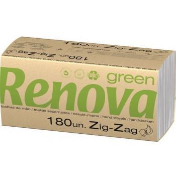 Renova бумажные полотенца, 2 слойные, 180шт (21043)