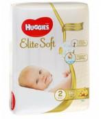 Huggies new born  #2 подгузники, 3-6 кг, 66шт (29721)