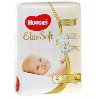 Huggies new born подгузники  #2, 3-6 кг, 66шт (29721)