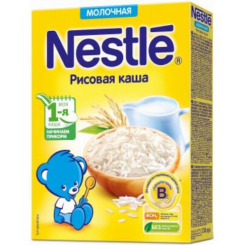 Nestle рисовая каша, с молоком, с 4 месяцев, 220гр (00454)
