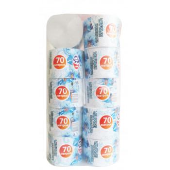 Туалетная бумага 70 метров, 10  рулонов, 2 слоя (60039)