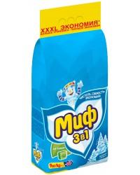 Миф стиральный порошок автомат, Морозная свежесть, для белого белья, 9кг (75598)